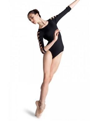 Justaucorps Danse Femme manches 3/4 Bloch L6106 noir