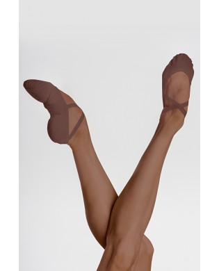 Stretch Canvas VESTA Dance Slippers for dark skin (wallnut) by Wearmoi from 36 to 43