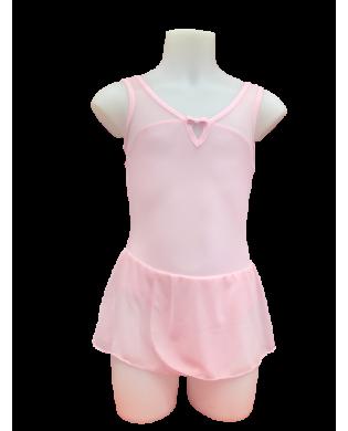 Tunique Danse Fille Clélia rose pastel