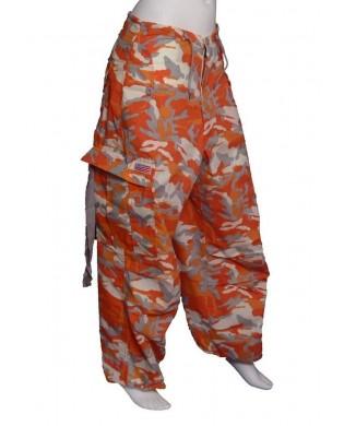 Baggy UFO Danse & Fitness Homme & Femme Camouflage orange