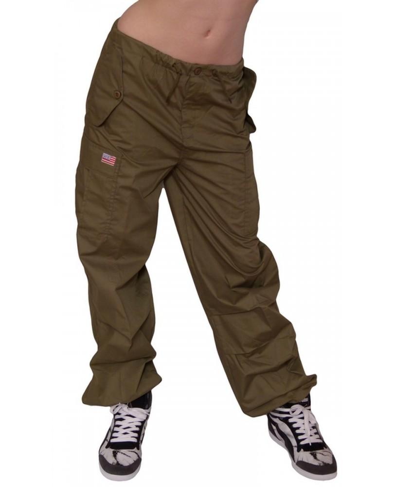 Pantalon Baggy hip hop enfant Olive