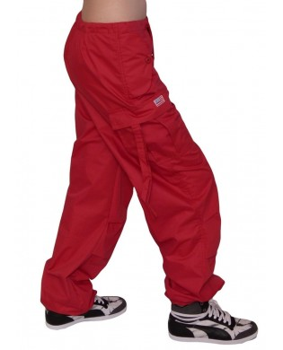 Pantalon Baggy hip hop enfant Rouge paprika