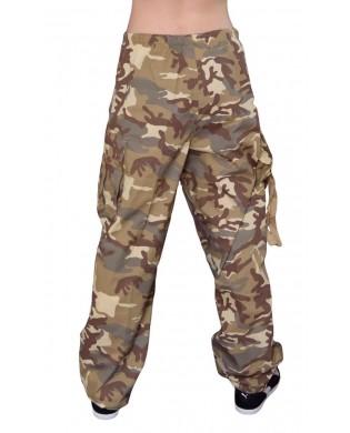 Pantalon hip hop enfant camouflage desert