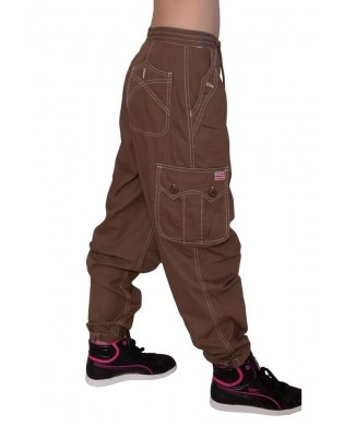 Pantalon Sport Homme & Femme Coton Brun