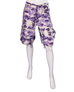 Bermuda Sport Homme & Femme Camouflage Violet