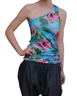 Hibiscus Asymmetric Dance Tank Top