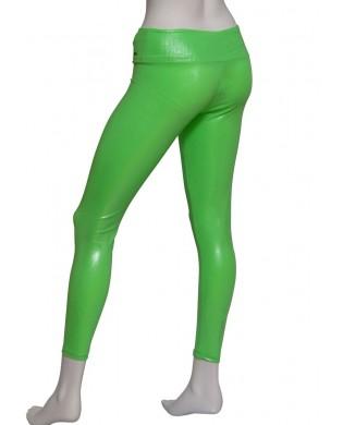 Leggings Danse Femme Scintillant Vert Vif