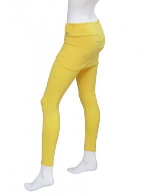 Leggings Fitness, Danse, Yoga Femme Saya Jaune