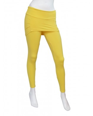 Leggings Fitness, Danse, Yoga Femme Jaune