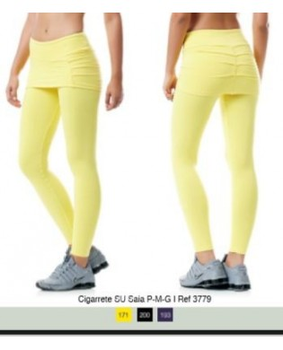 Sport Woman Leggings Yellow
