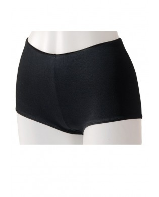 Black basic dance short