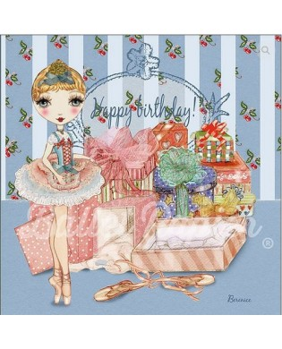 Ballerina glitter birthday card