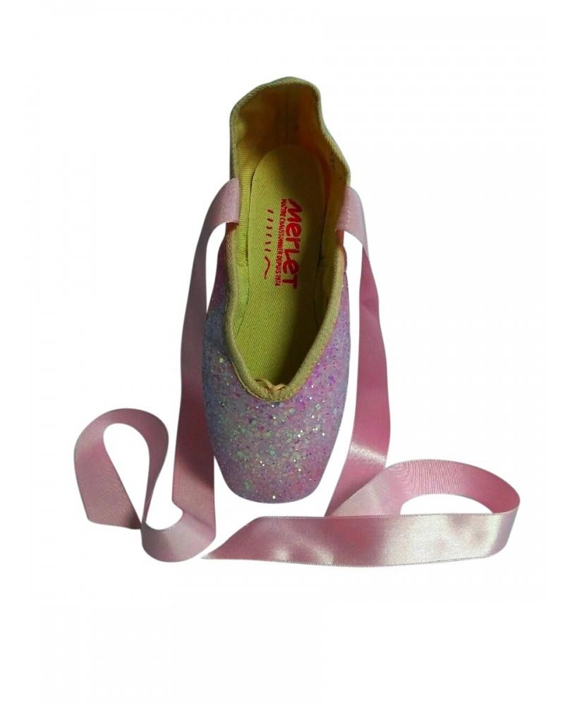 Pointes de Danse Classique Décoratives Glitter Rose
