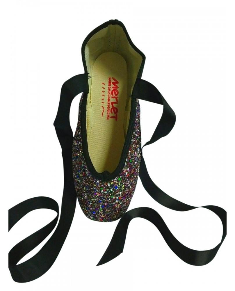 Pointes de Danse Classique Décoratives Glitter Multicolores