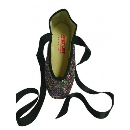 Multicolored Glitter Pointe Shoes