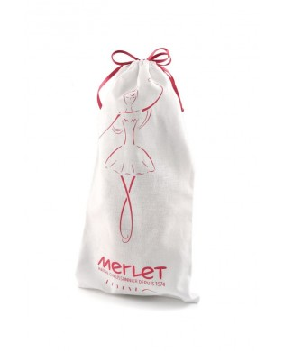 White pointe shoes bag