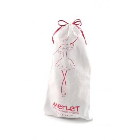 White pointe shoes bag