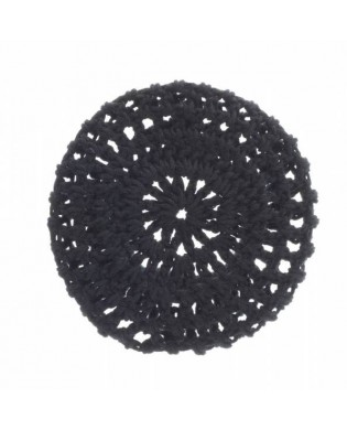 Black Crochet Hair Bun Net
