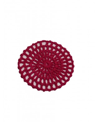 Burgundy Crochet Hair Bun Net