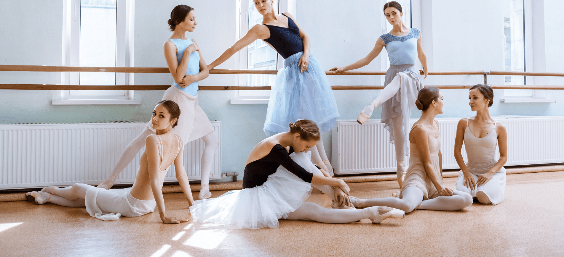 Ballet bars for studios and at home